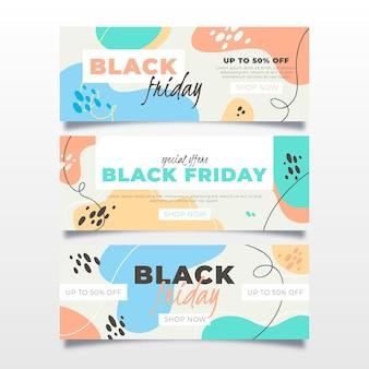Banner venerdì nero in design piatto