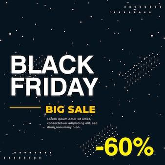 Banner scuro minimo di grande vendita del black friday