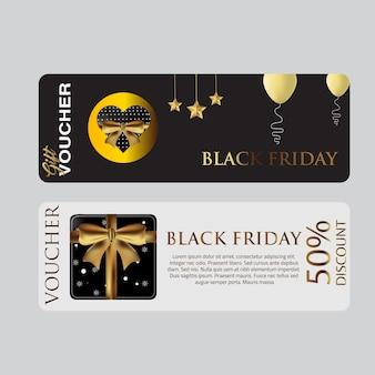 Modello di voucher di carta venerdì nero