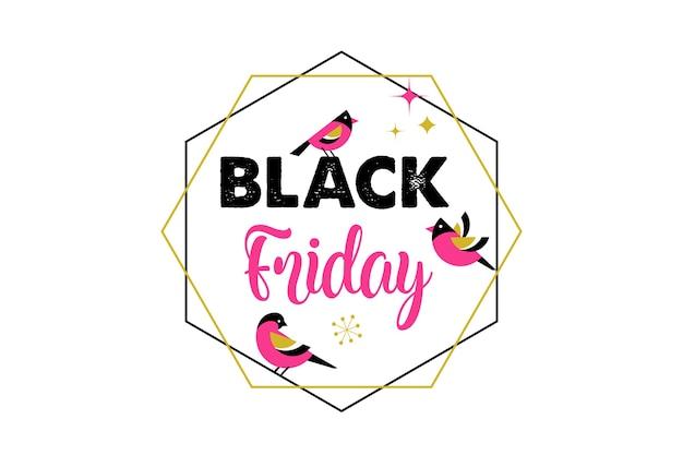 Venerdì nero, banner di vendita di natale, modello di poster Vettore Premium