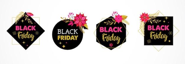 Venerdì nero, banner di vendita di natale