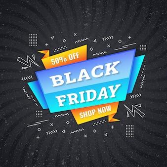 Modello di disegno di concetto di venerdì nero