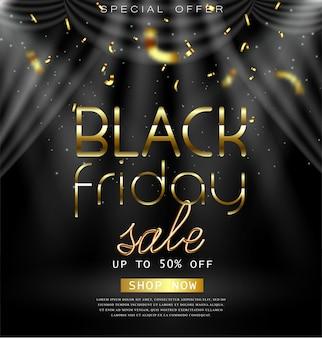 Design del black friday per pubblicità, banner, volantini e volantini.