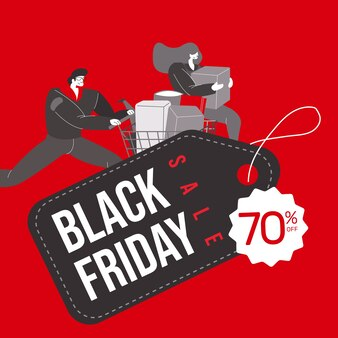Banner di vendita sconto black friday