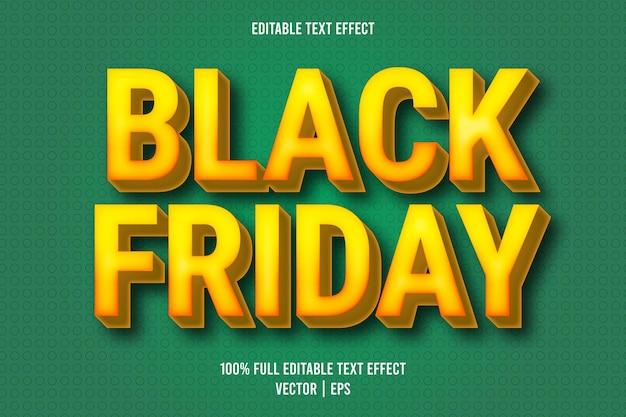 Black friday effetto testo modificabile in stile cartone animato