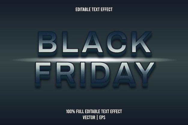 Black friday effetto testo modificabile colore blu scuro