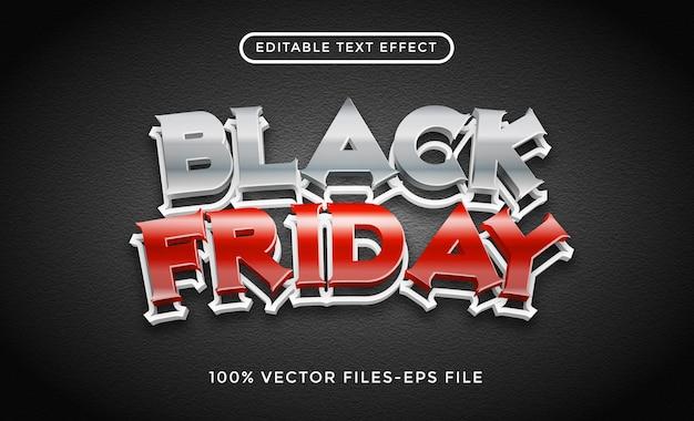 Vettori premium di effetto testo modificabile venerdì nero