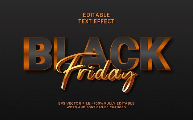 Effetto di testo modificabile del black friday