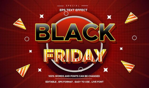 Promozione delle vendite a tema effetto stile testo modificabile del black friday