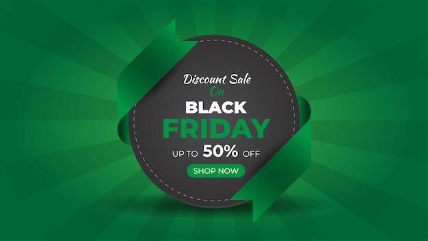 Banner web di vendita di moda del black friday e modello di progettazione di sfondo Vettore Premium