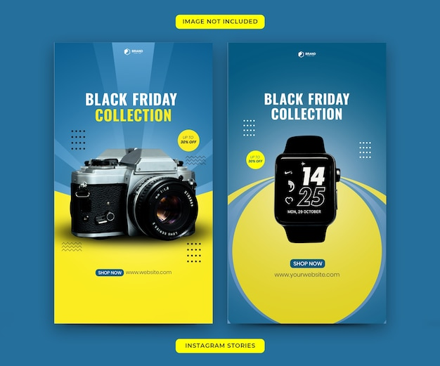 Modello di storie di instagram del black friday