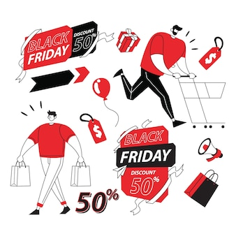 Illustrazione del black friday item for sale