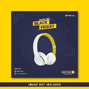 Modello di banner per social media con offerta limitata del black friday