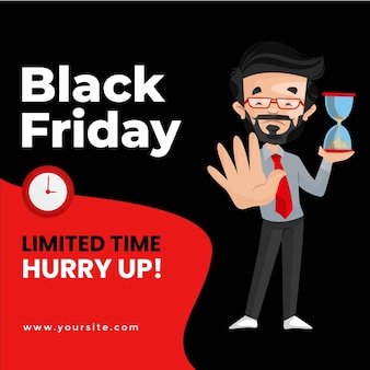 Banner di offerta a tempo limitato per il black friday