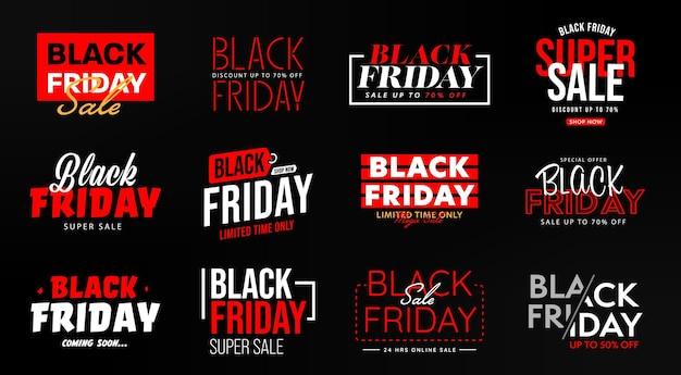 Black friday limitato nel tempo modello di banner super vendita