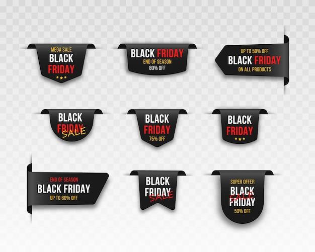 Tag di vendita del mercato del black friday