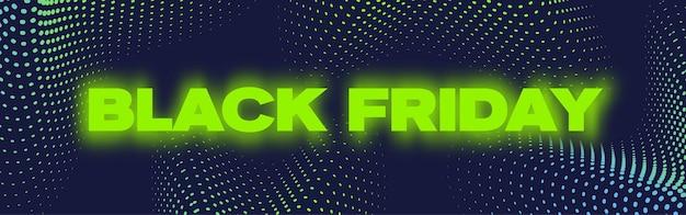 Poster per banner al neon del black friday o modello flayer
