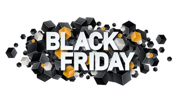 Poster o striscione del black friday con scatole