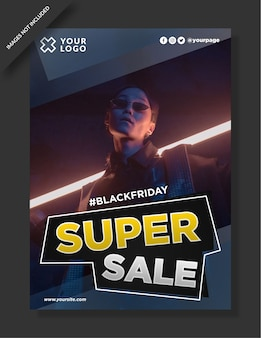Black friday poster, flyer e post sui social media
