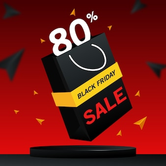 Banner 3d di vendita venerdì nero