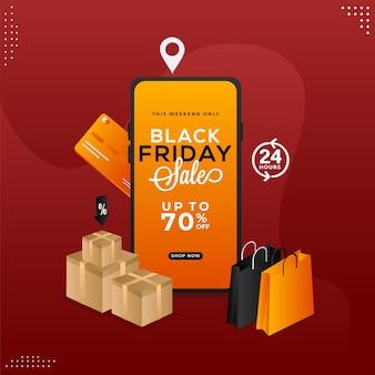 App di vendita del black friday in smartphone