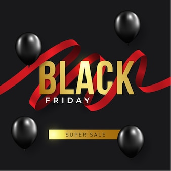 Venerdì nero vendita sfondo. design festoso Vettore Premium