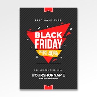 Volantino sfondo nero vendita venerdì