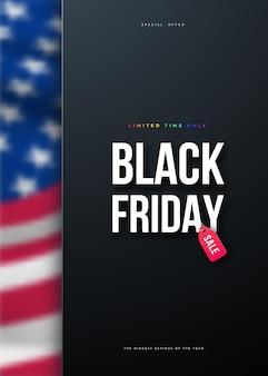 Sfondo di vendita del black friday v