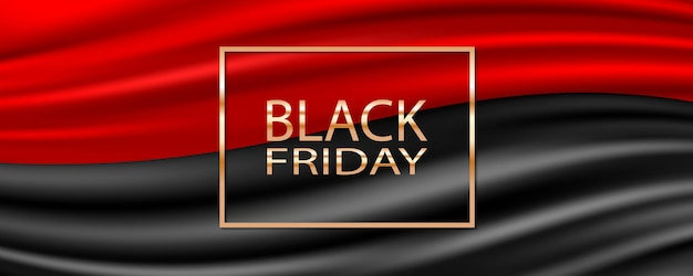 Sfondo di vendita venerdì nero con nastro