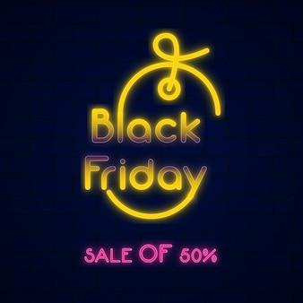 Sfondo di vendita del black friday