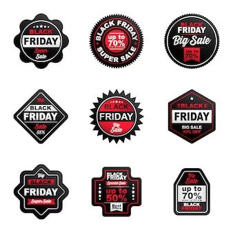 I distintivi di vendita del venerdì nero sono colorati