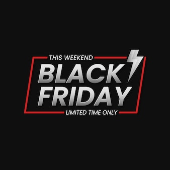 Fondo della bandiera di vendita del black friday