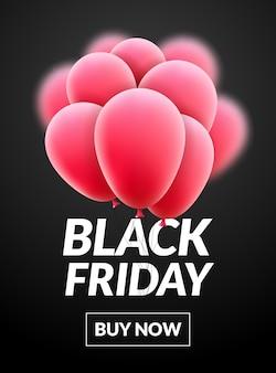 Palloncini banner vendita venerdì nero