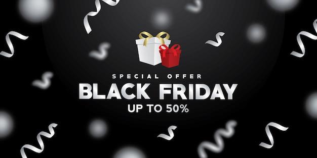Banner di vendita venerdì nero, poster venerdì nero, sfondo venerdì nero