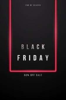 Concetto di banner di vendita del black friday