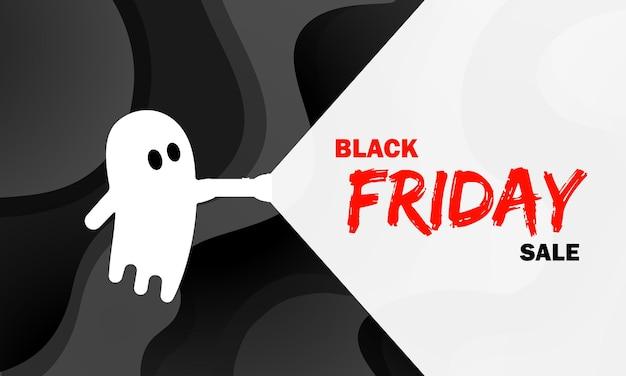 Banner di vendita venerdì nero. sconto. concetto di halloween. vettore su sfondo isolato. env 10.