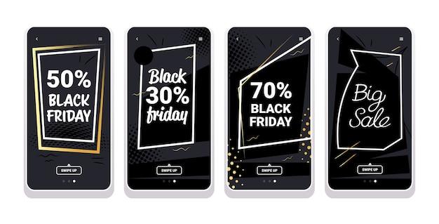 Banner di vendita venerdì nero per storie di instagram