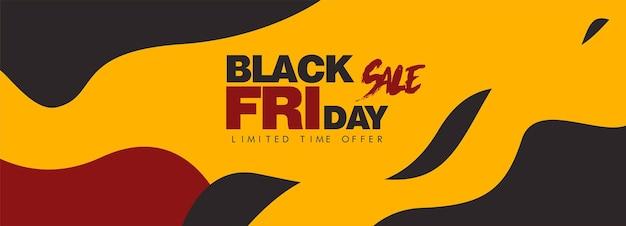 Black friday vendita banner poster layout design colore rosso su sfondo scuro