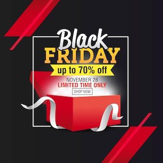 Modello di banner di vendita di black friday