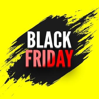 Banner di vendita venerdì nero con illustrazione effetto grunge