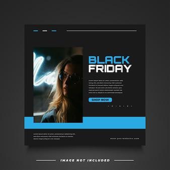 Banner di vendita del black friday con un concetto semplice e minimalista