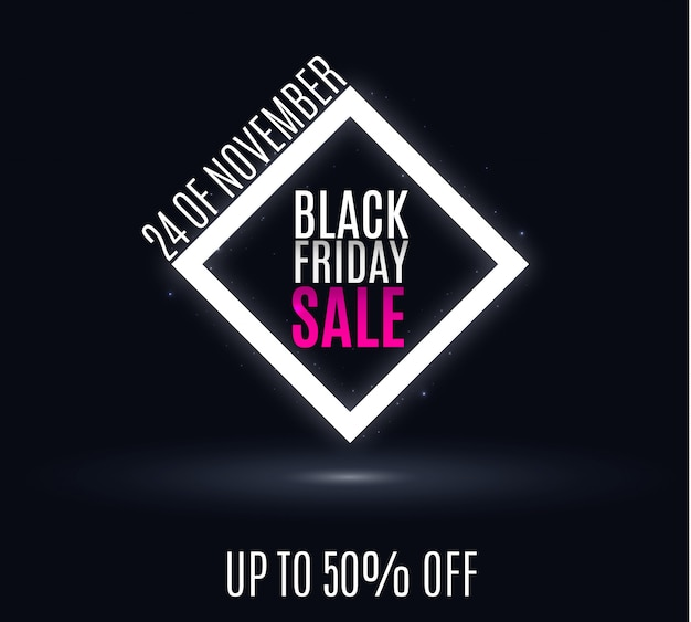 Banner di vendita del black friday.