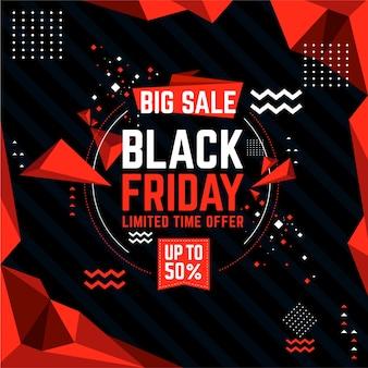 Banner di vendita venerdì nero.