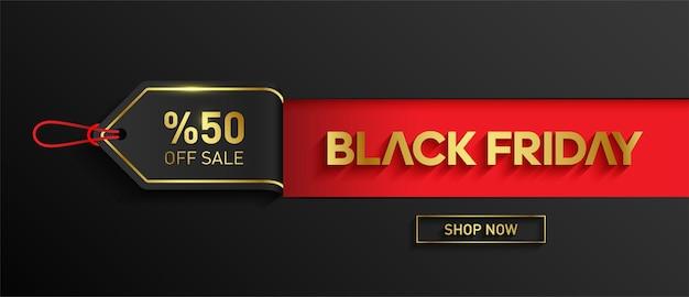Banner di vendita del black friday