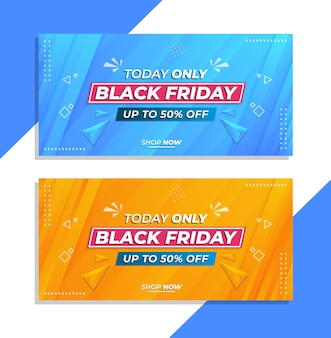 Banner di vendita venerdì nero nel modello di design moderno
