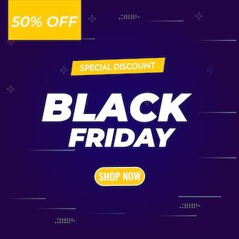 Banner di sconto blu vendita venerdì nero