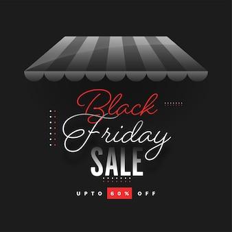 Concetto di vendita del black friday