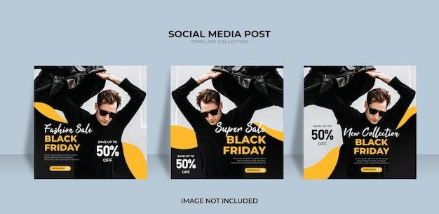 Progettazione di vendita del black friday per i social media