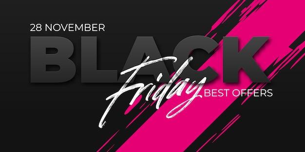 Modello di progettazione vendita venerdì nero. layout concettuale per web e stampa.