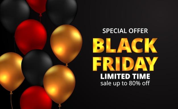 Poster di offerta sconto vendita venerdì nero